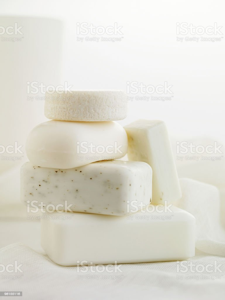 Stack of Natural Soaps royalty-free stock photo