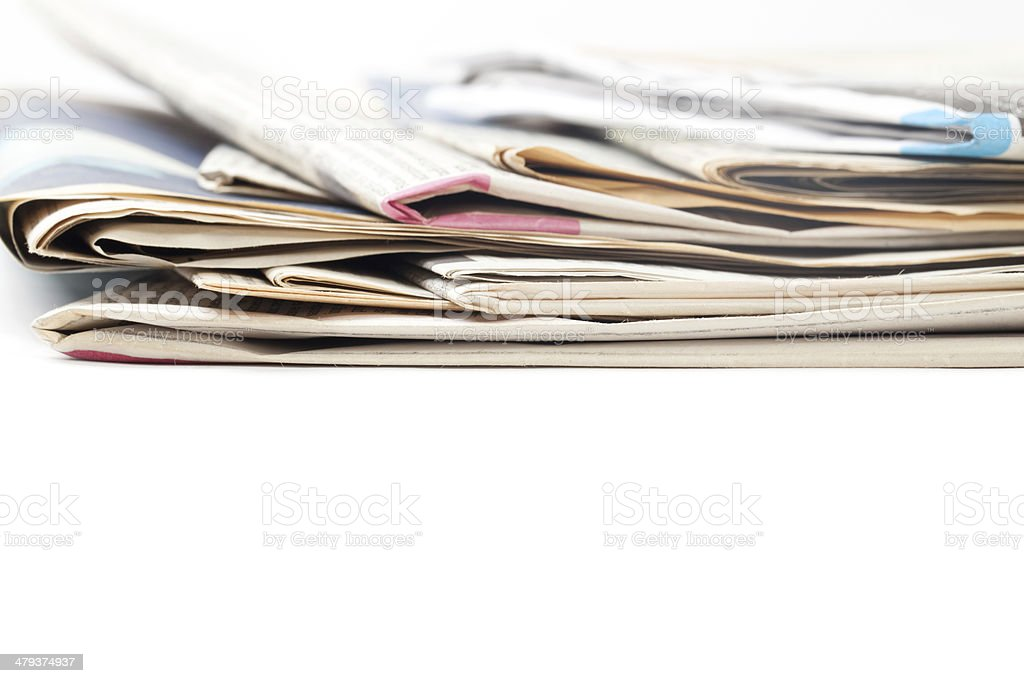 Stack of Newspaper royalty-free stock photo