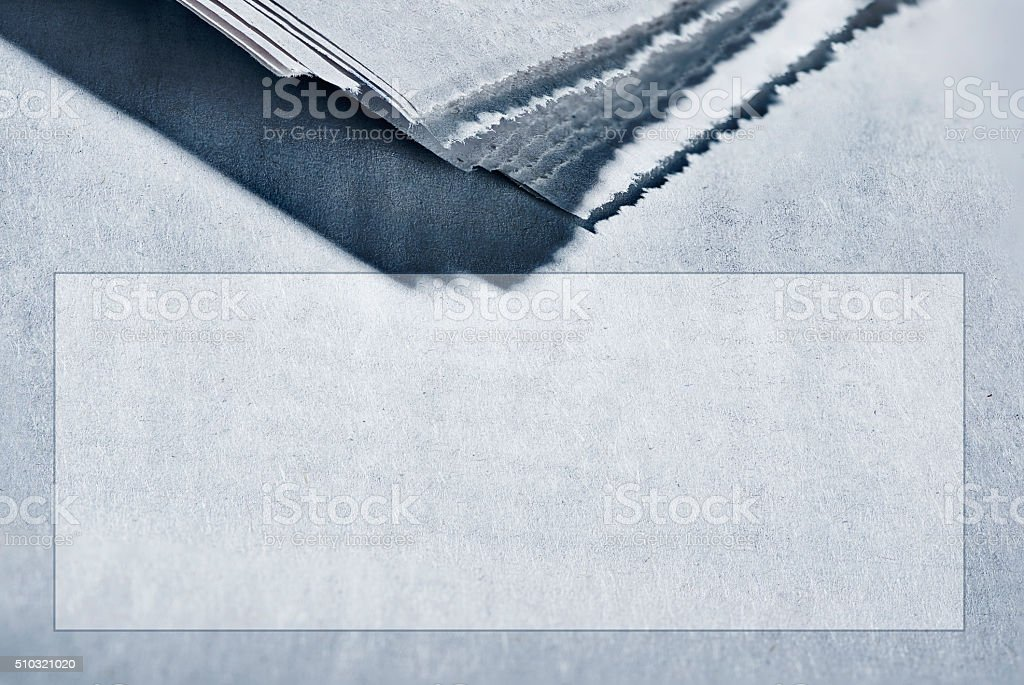 Stack of newspaper with copyspacebox stock photo