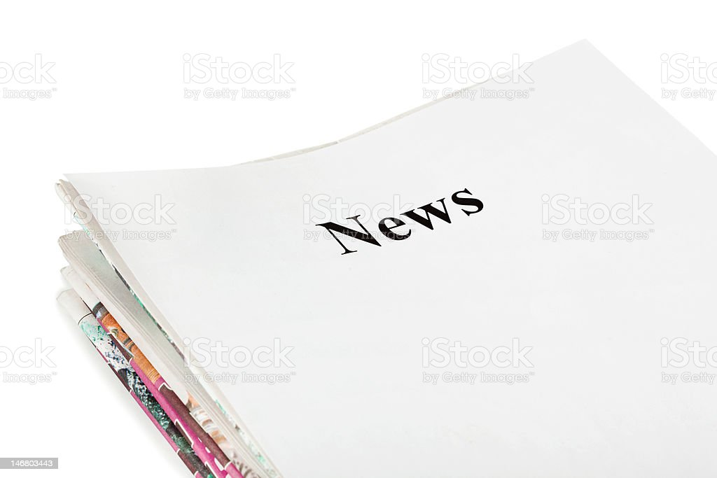 Stack of newspapers News royalty-free stock photo