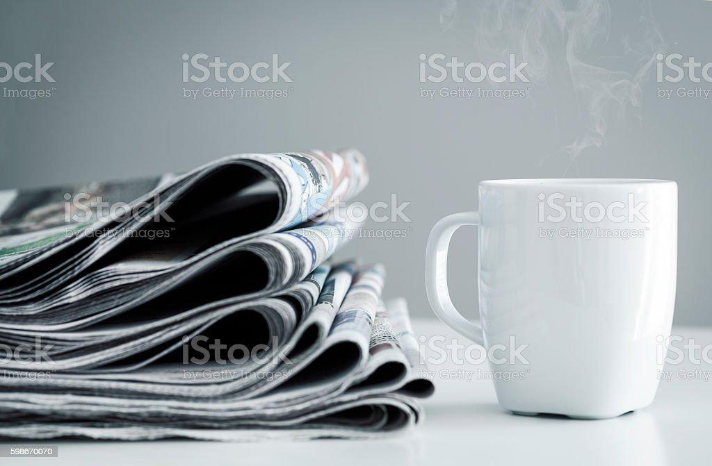 Stapel Zeitungen  - Lizenzfrei Dampf Stock-Foto
