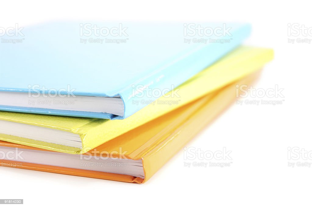 Stack of notebooks royalty-free stock photo