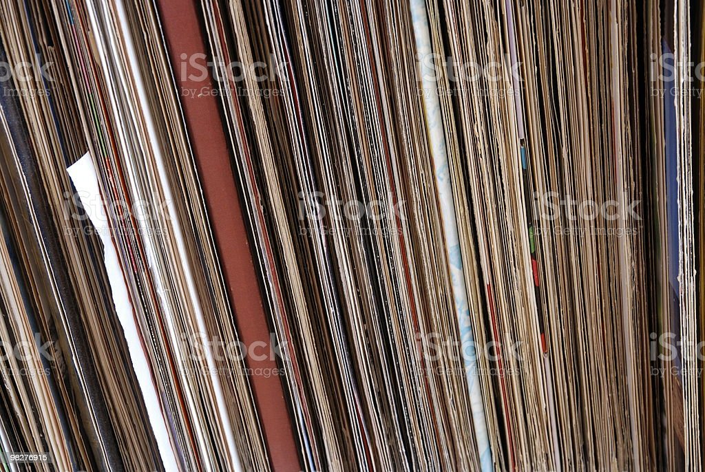 stack of old album long playing record LP royalty-free stock photo