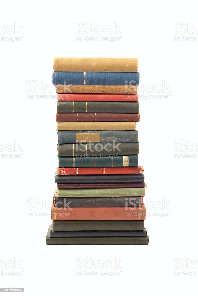 Stack of Old Antique Books royalty-free stock photo