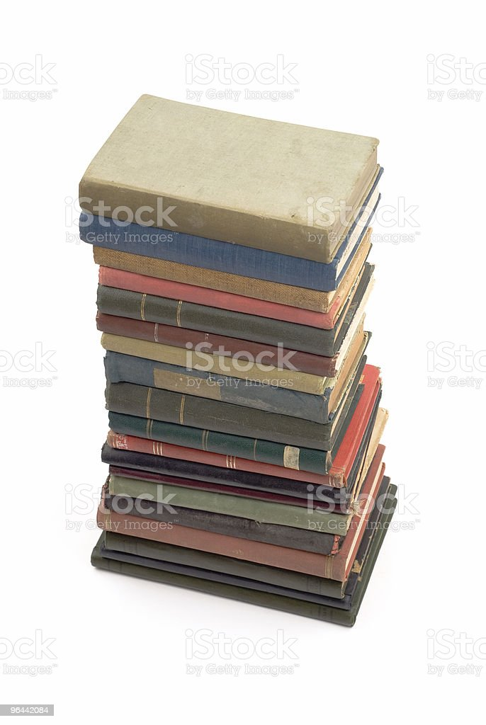 Stack of Old Antique Books - Royalty-free Antique Stock Photo