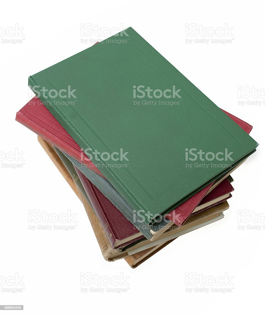 Stack of old books, blank to add your own title royalty-free stock photo