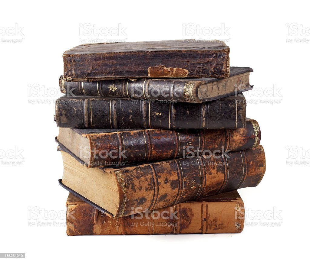 Stack of old books royalty-free stock photo