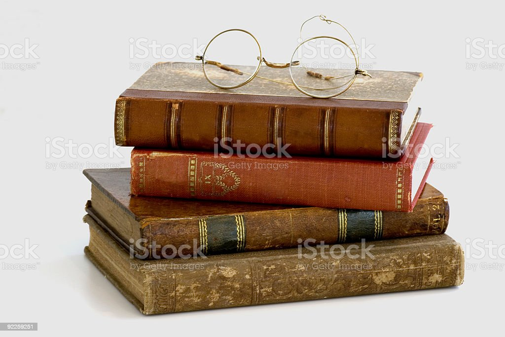 Stack of old books. royalty-free stock photo