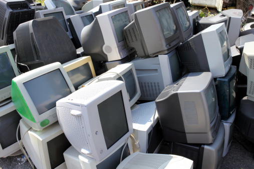 Stack of old Computer Monitors