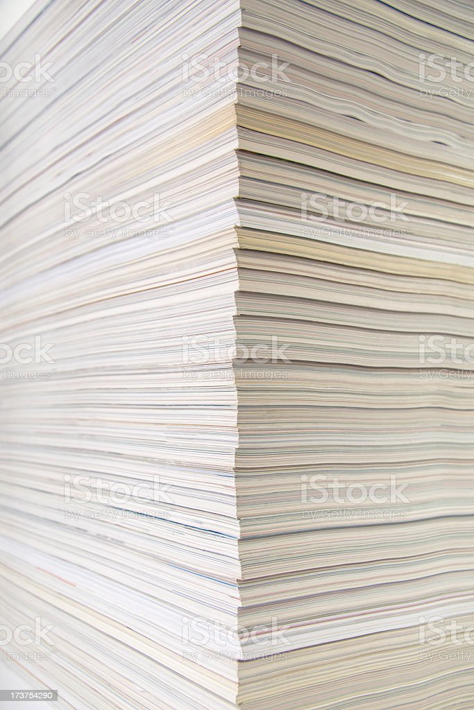 Stack of old magazines background royalty-free stock photo