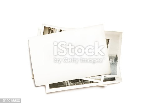 istock Stack of old photos 512046800