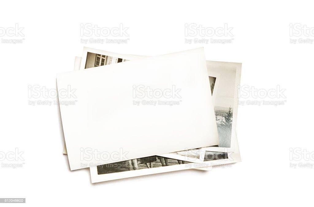 Stack of old photos - foto de stock