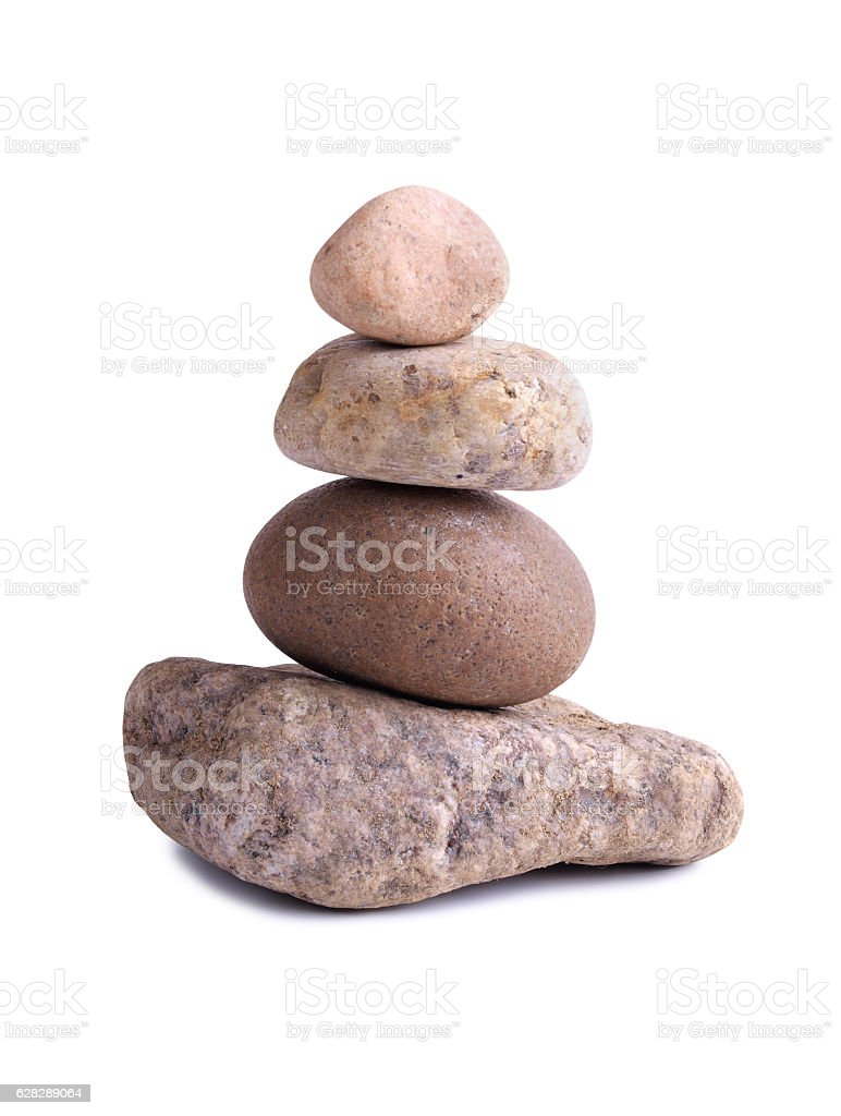 Stack of old stones stock photo