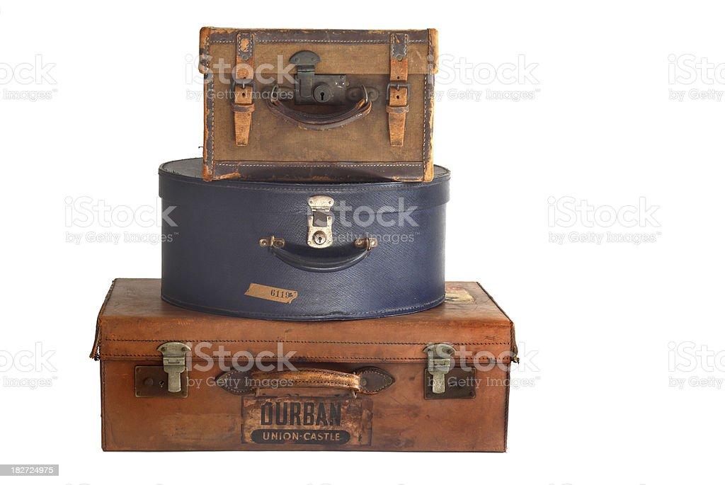 Pilha de old malas - foto de acervo