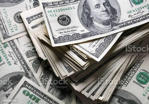 1 백 달러 메모의 스택 0명에 대한 스톡 사진 및 기타 이미지