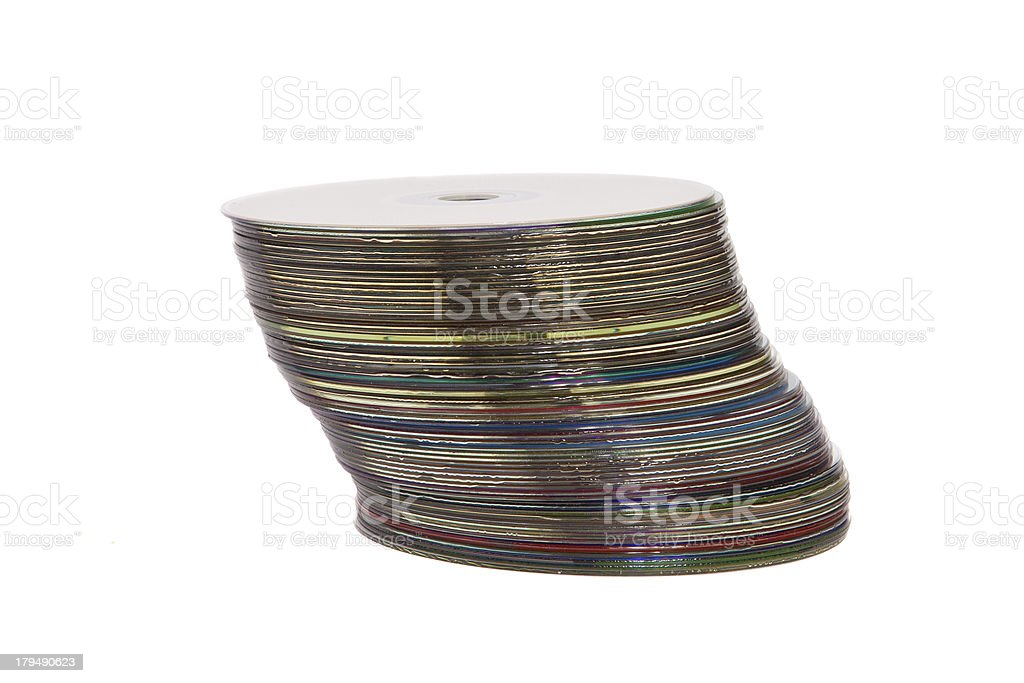 stack of optical disc royalty-free stock photo