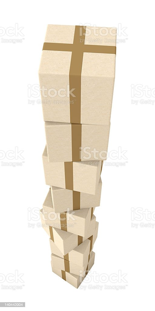 Stack of Packages royalty-free stock photo