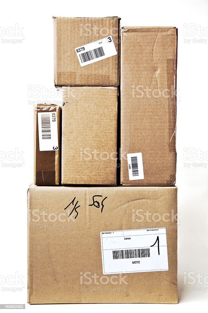 Stack of  packages. royalty-free stock photo