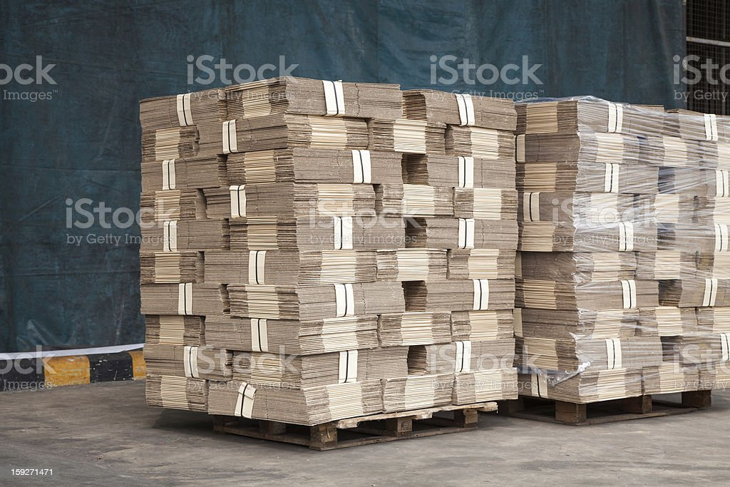 Stack of packaging boxes royalty-free stock photo