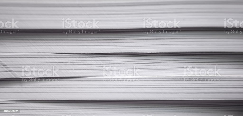 Stack of pages of magazines stock photo