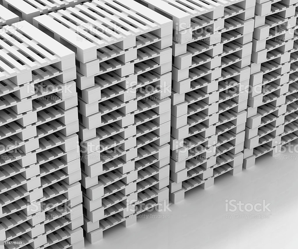 Stack of pallets royalty-free stock photo
