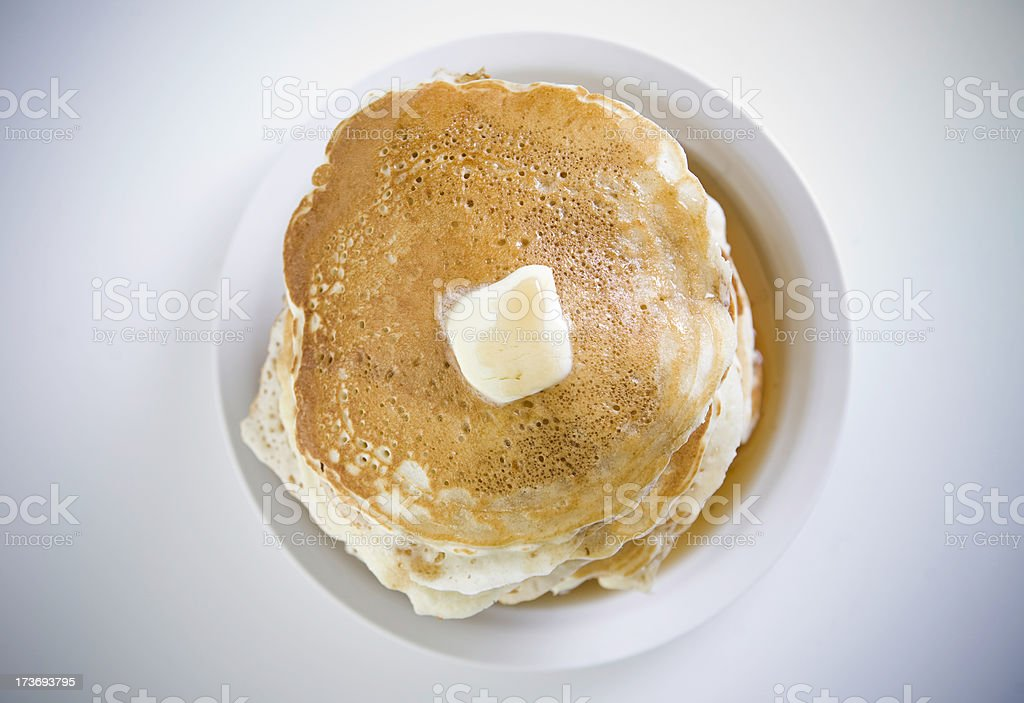 Stack of Pancakes Directly Above stock photo