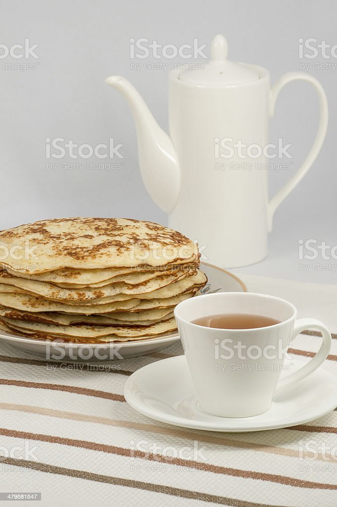Stack of pancakes royalty-free stock photo