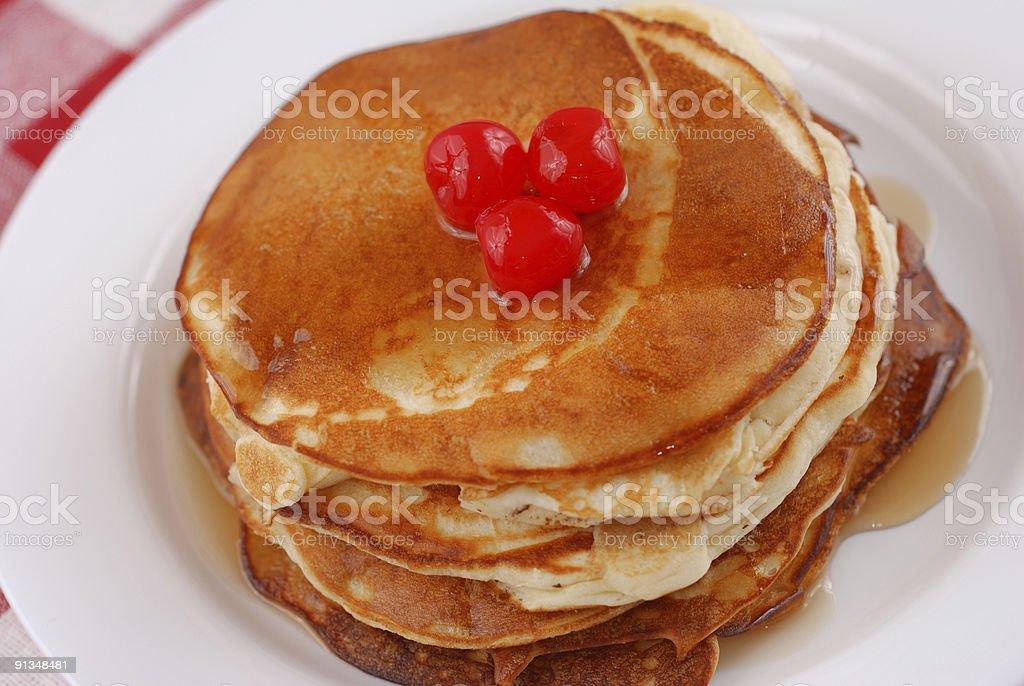 Stack of pancakes royalty-free stock photo