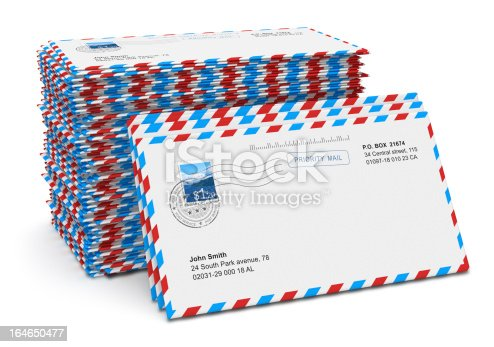 istock Stack of paper mail letters 164650477