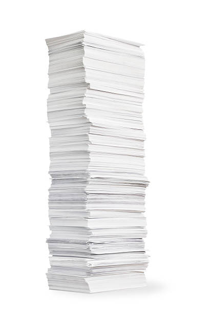 Stack of paper stock photo