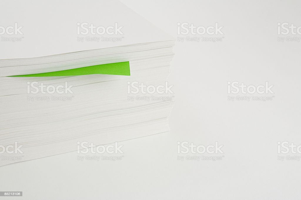 A stack of paper royalty-free stock photo