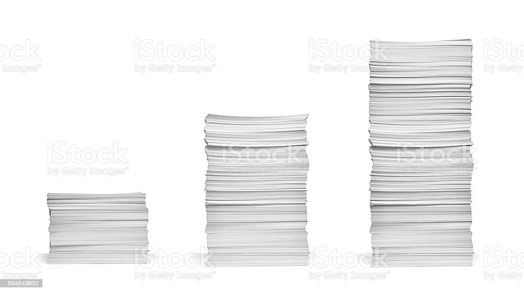 stack of papers documents office business stock photo