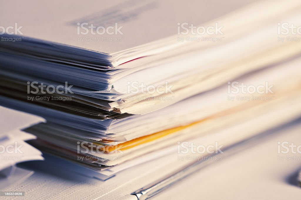 stack of papers paperwork stock photo