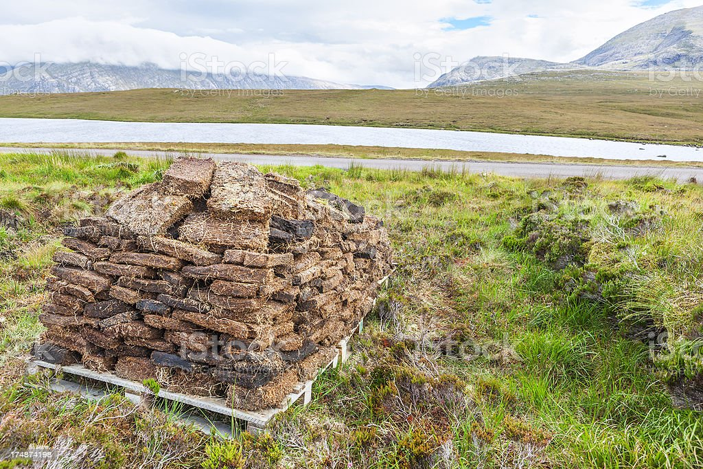 Stack of Peats royalty-free stock photo