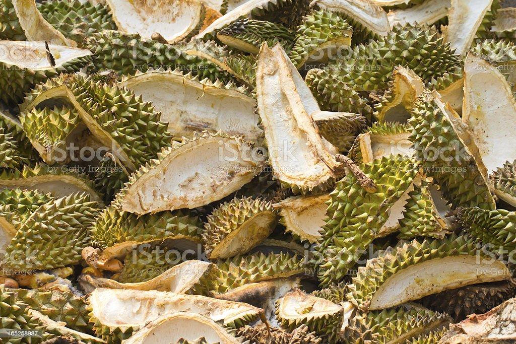 Stapel Geschält durian – Foto