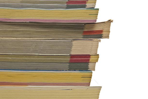 Stapel phonebooks – Foto