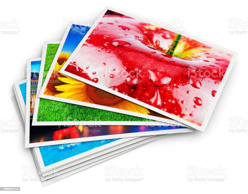 写真カードのスタック - 3Dのロイヤリティフリーストックフォト