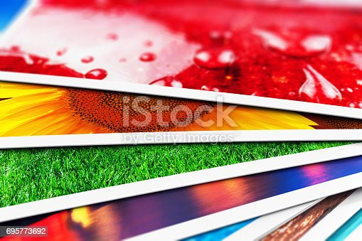 istock Stack of photo cards 695773692