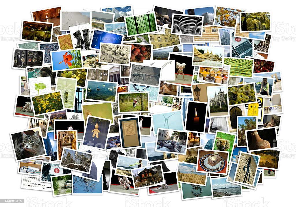 Stack of photos - background royalty-free stock photo