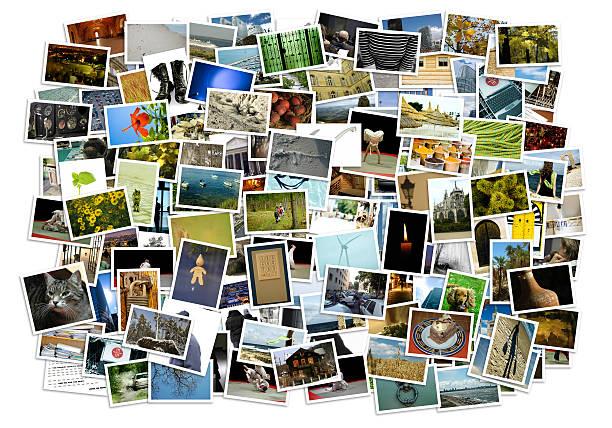 stos zdjęć na tle - duża grupa obiektów zdjęcia i obrazy z banku zdjęć