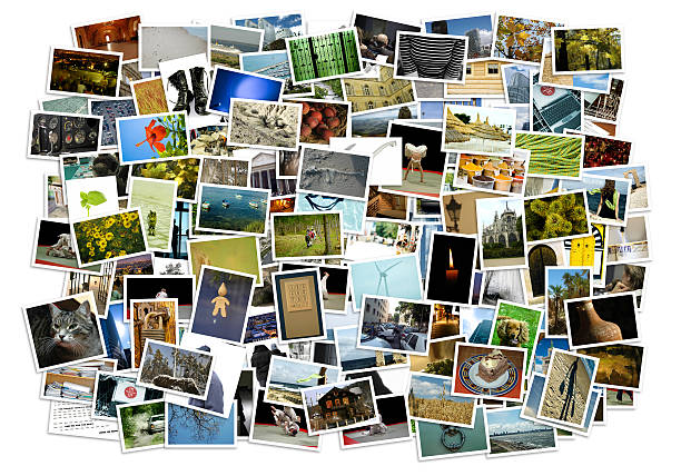 Stack of photos - background Stack of photos isolated from the background photography stock pictures, royalty-free photos & images