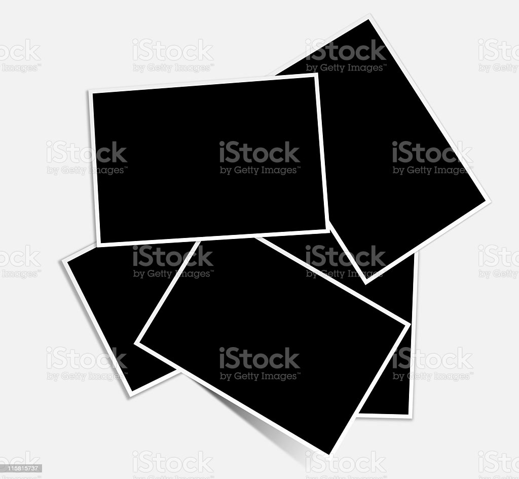 stack of photos royalty-free stock photo