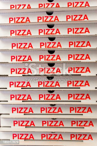 Stack Of Pizza Boxes Stock Photo Istock