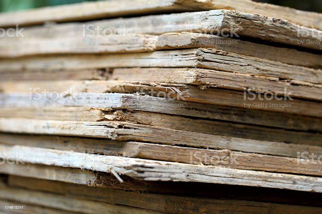 stack of planks royalty-free stock photo