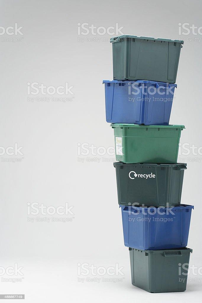 Stack Of Plastic Crates stock photo