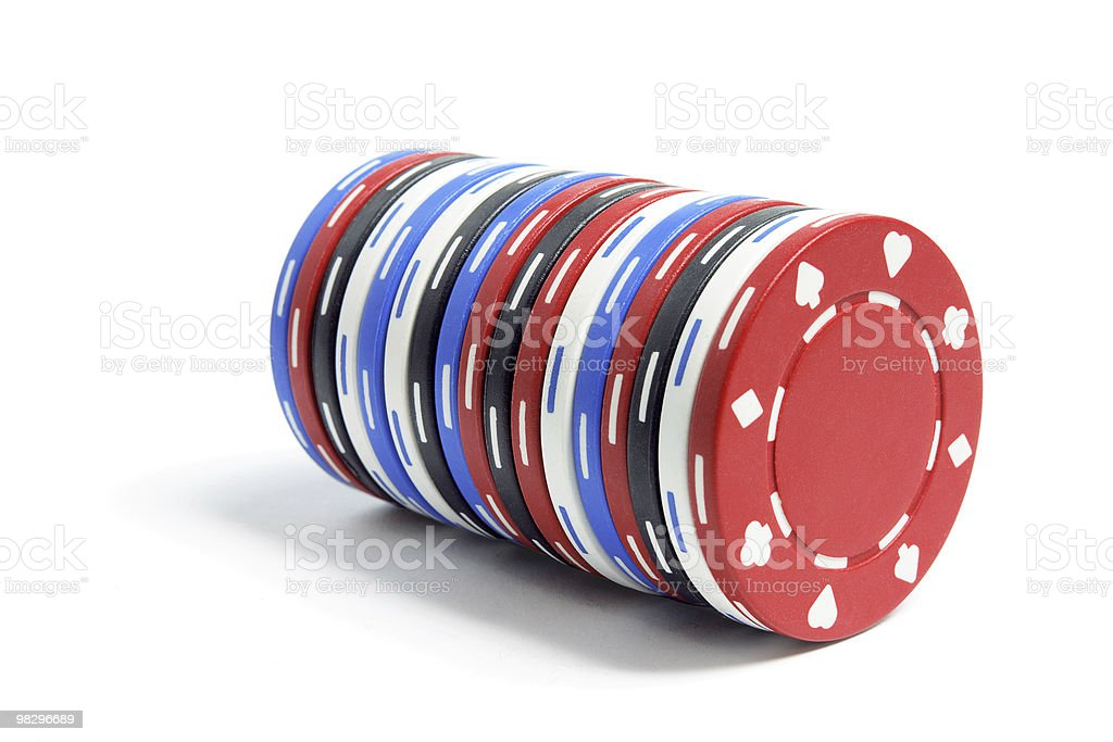 Pila di chip di Poker foto stock royalty-free