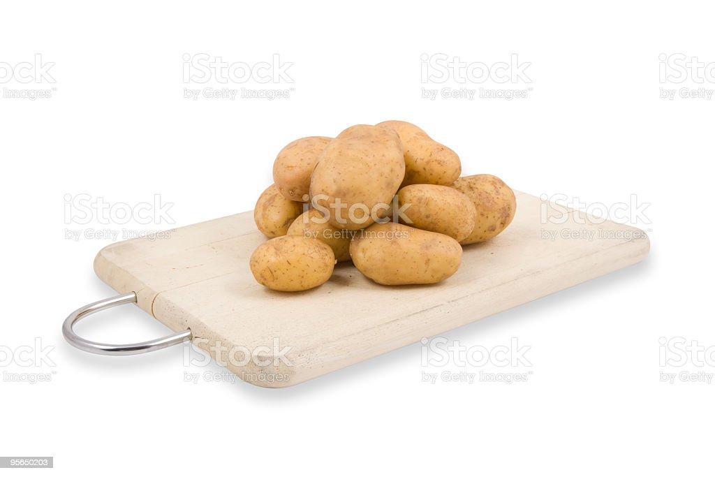 Stapel von Kartoffeln [ w/path ] - Lizenzfrei Clipping Path Stock-Foto