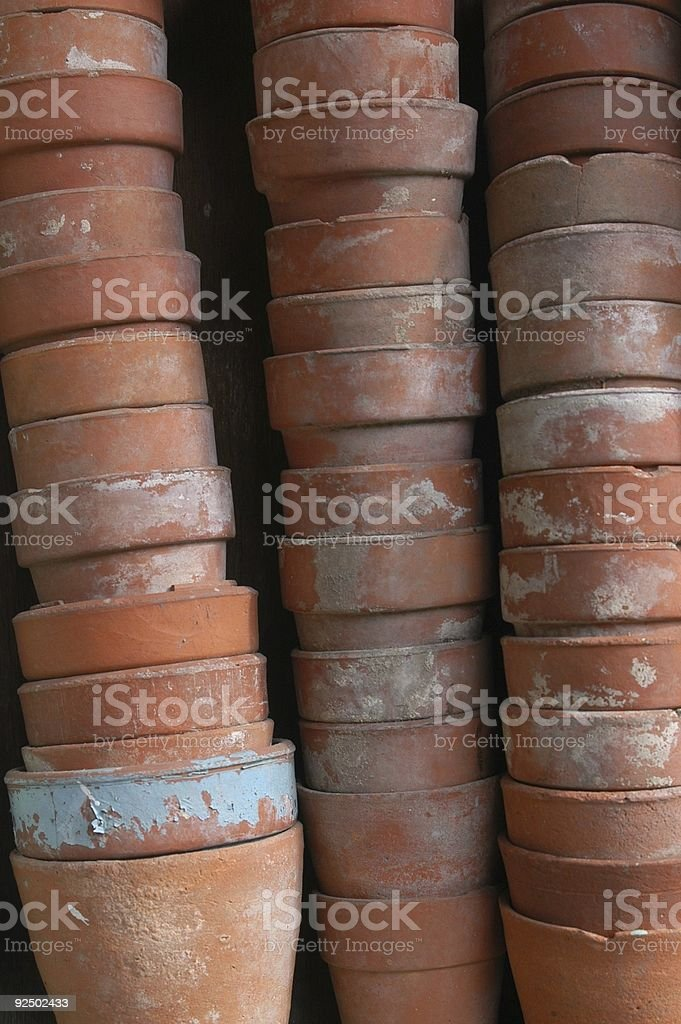 stack of pots II royalty-free stock photo