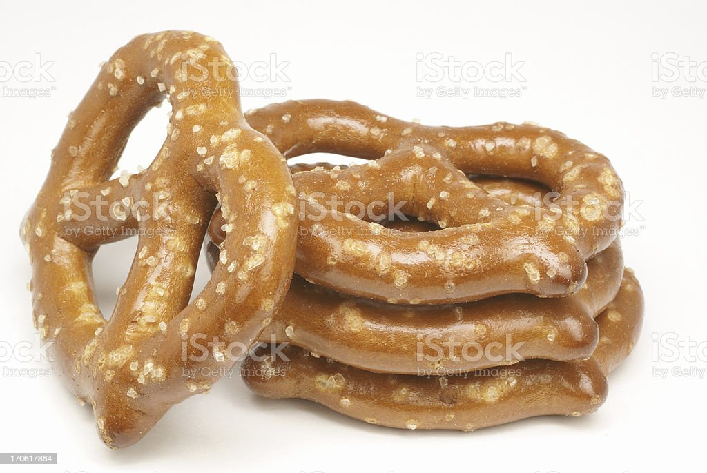 stack of pretzels royalty-free stock photo