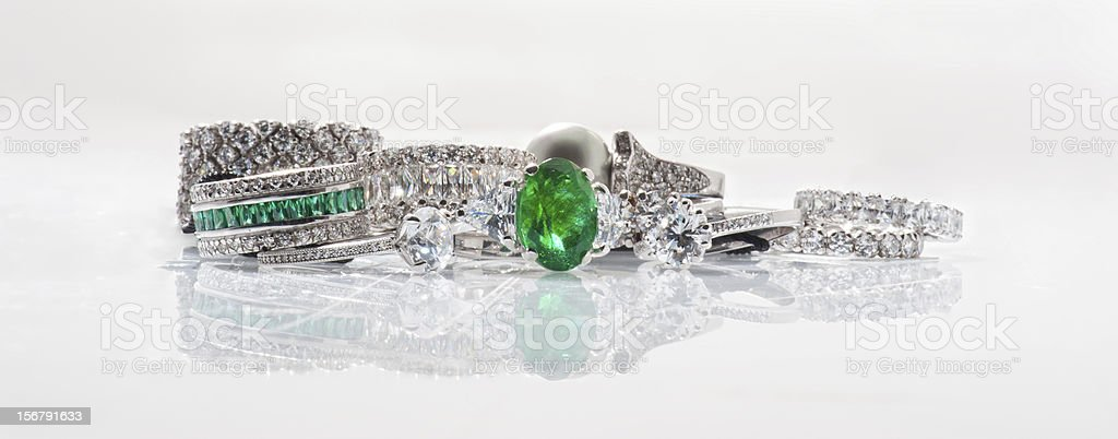 Stack of Ring stock photo
